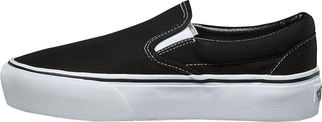 Vans Classic Slip-On Platform Sneaker, Black Canvas/Leather, large, image 3