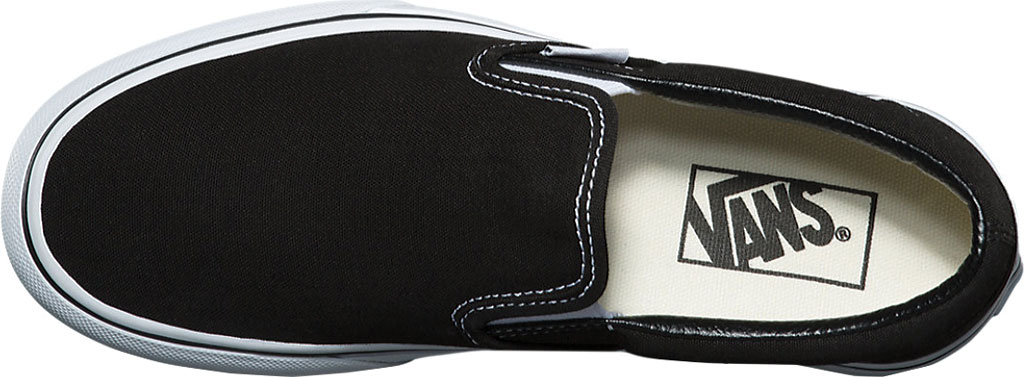Vans Classic Slip-On Platform Sneaker, Black Canvas/Leather, large, image 4