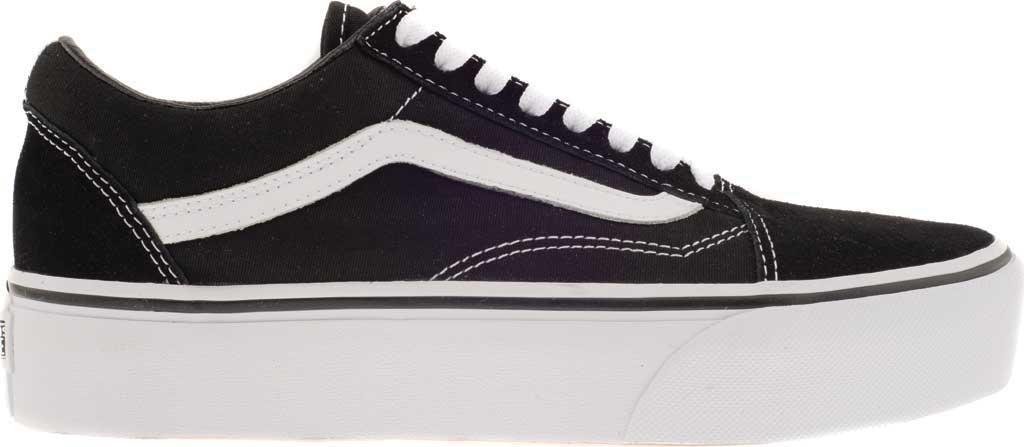 Vans Old Skool Platform Sneaker, Black/White, large, image 2