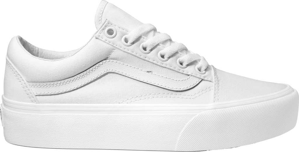 Vans Old Skool Platform Sneaker, True White Textile, large, image 1