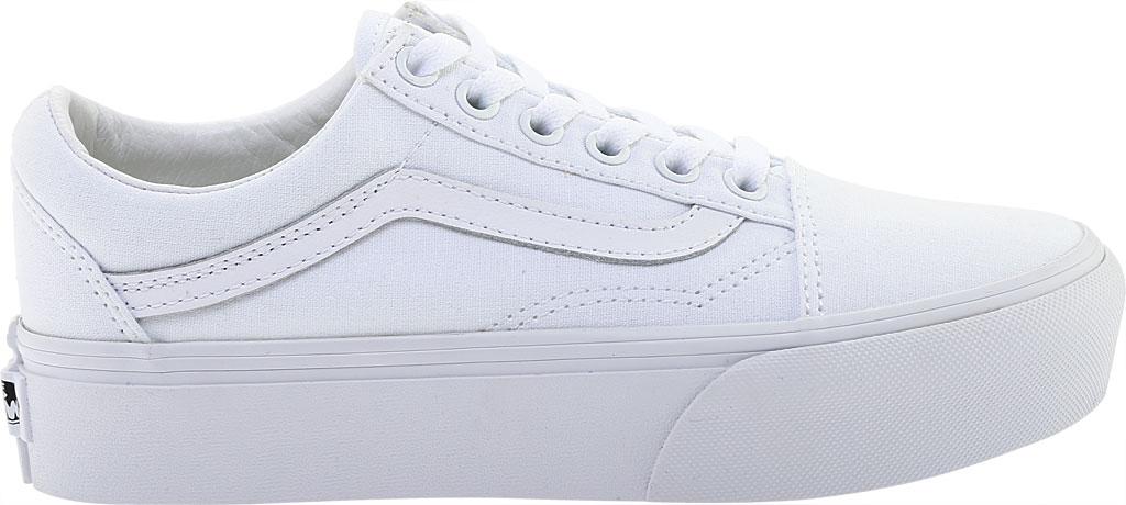 Vans Old Skool Platform Sneaker, True White Textile, large, image 2