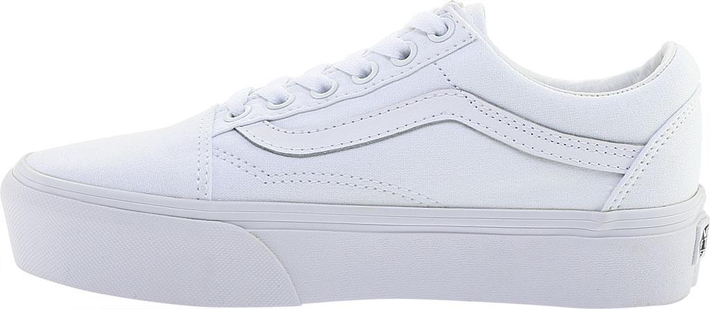 Vans Old Skool Platform Sneaker, True White Textile, large, image 3