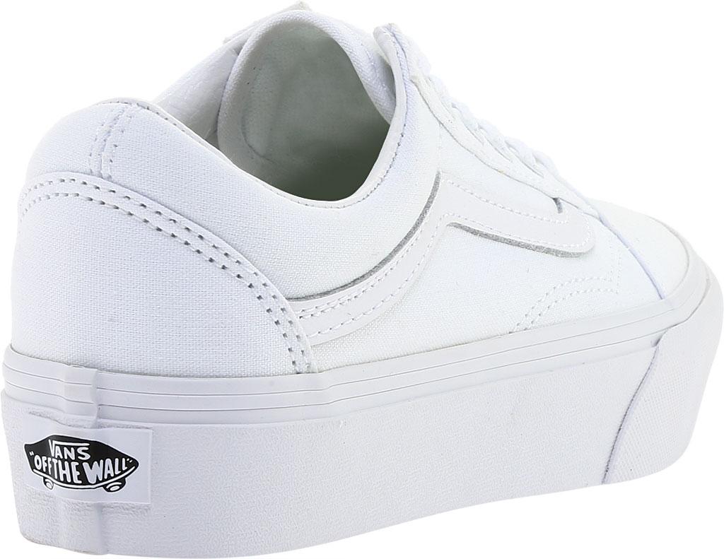 Vans Old Skool Platform Sneaker, True White Textile, large, image 4