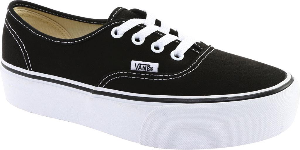 Vans Authentic Platform 2.0 Sneaker, Black Canvas, large, image 1