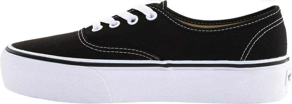 Vans Authentic Platform 2.0 Sneaker, Black Canvas, large, image 3