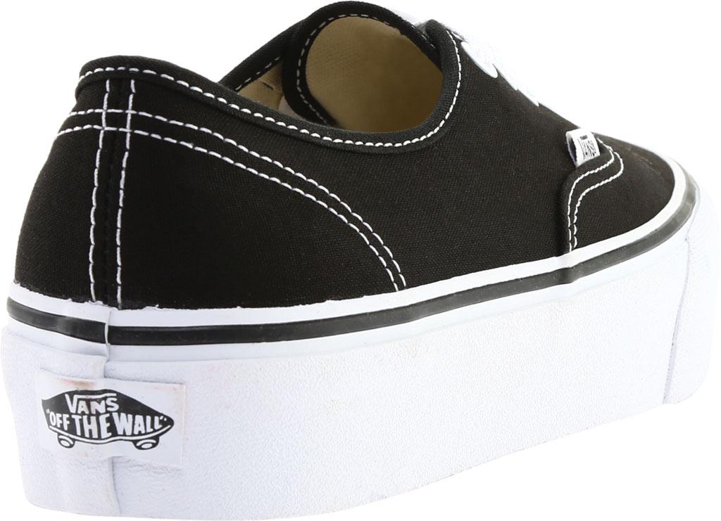 Vans Authentic Platform 2.0 Sneaker, Black Canvas, large, image 4