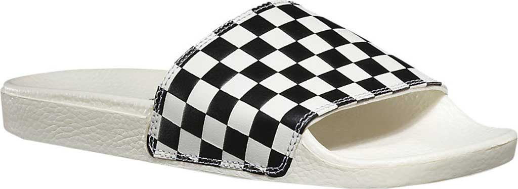 Women's Vans Slide-On Sandal, Checkerboard White/Black, large, image 1