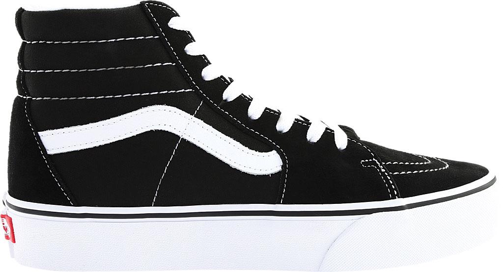 Vans SK8-Hi Platform 2.0 High Top, Black Canvas/True White, large, image 2