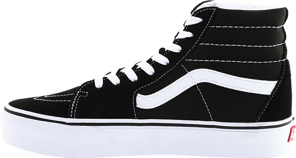 Vans SK8-Hi Platform 2.0 High Top, Black Canvas/True White, large, image 3