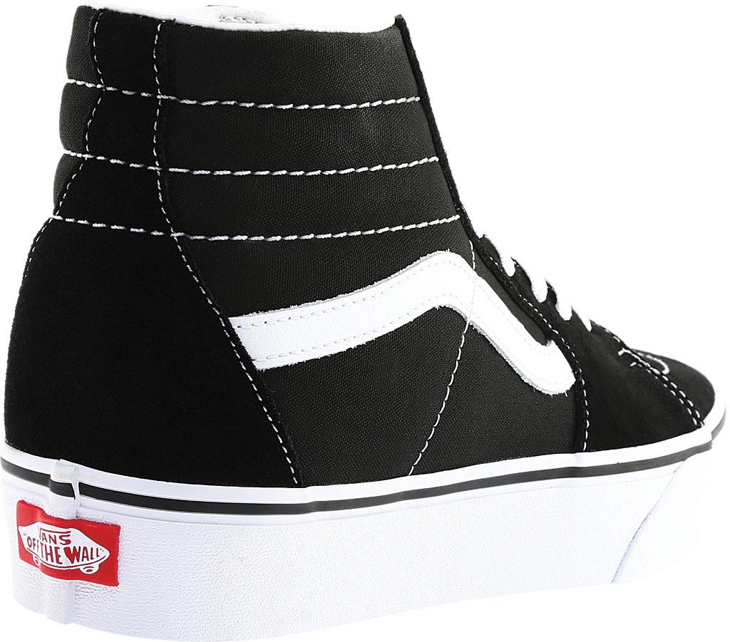 Vans SK8-Hi Platform 2.0 High Top, Black Canvas/True White, large, image 4