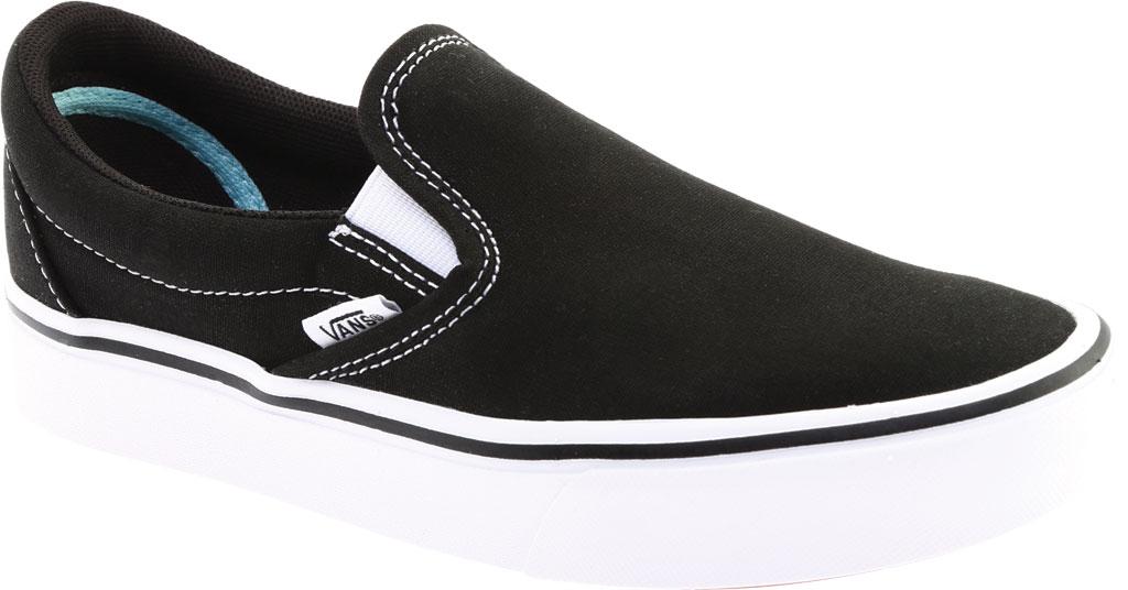Vans ComfyCush Slip-On, Classic Black/True White Canvas, large, image 1