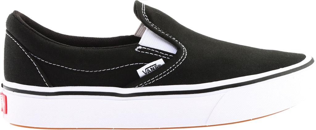 Vans ComfyCush Slip-On, Classic Black/True White Canvas, large, image 2