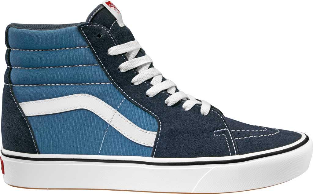 Vans ComfyCush SK8-Hi Sneaker, Classic Navy/STV Navy Suede/Canvas, large, image 1