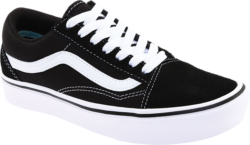 Vans ComfyCush Old Skool Sneaker, Classic Black/True White Suede/Canvas, large, image 1