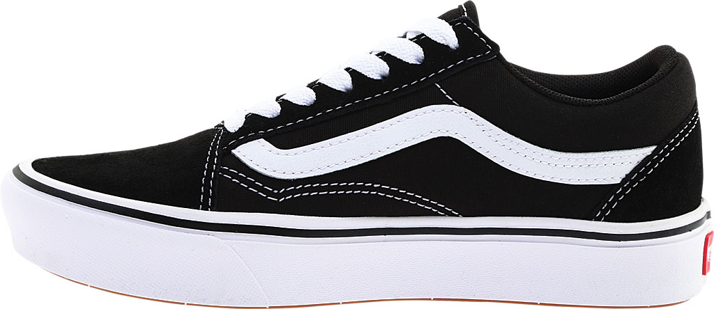 Vans ComfyCush Old Skool Sneaker, Classic Black/True White Suede/Canvas, large, image 3