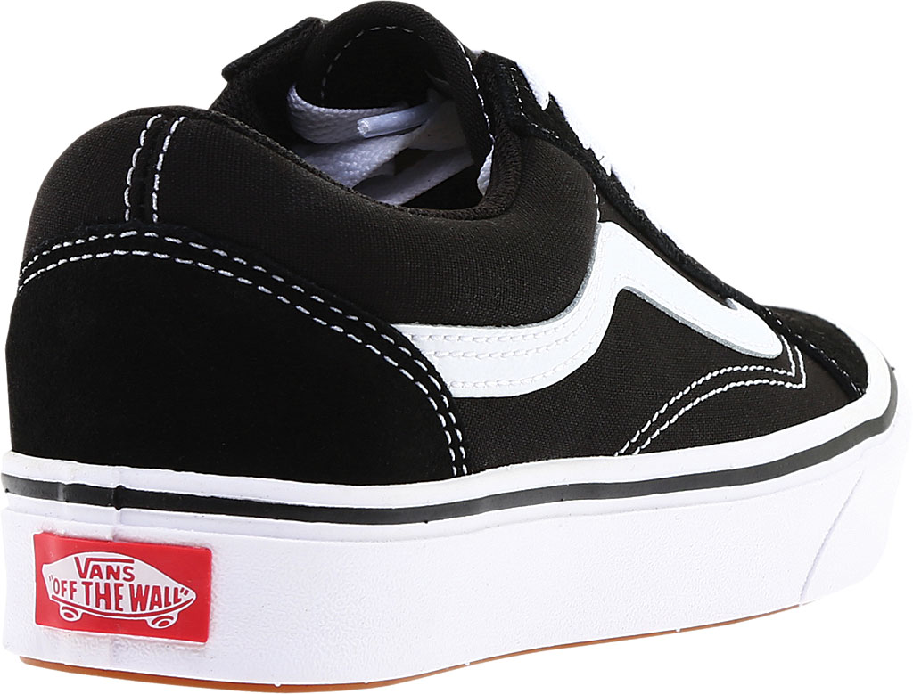Vans ComfyCush Old Skool Sneaker, Classic Black/True White Suede/Canvas, large, image 4