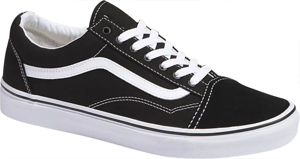 Children's Vans Classic Old Skool Canvas Sneaker, Black/True White, large, image 1