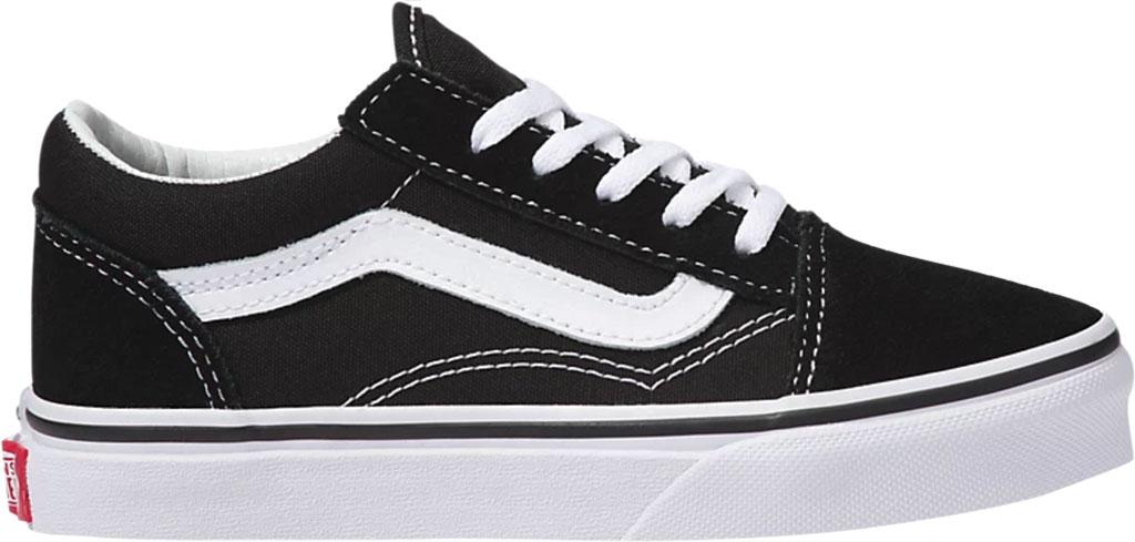 Children's Vans Classic Old Skool Canvas Sneaker, Black/True White, large, image 2