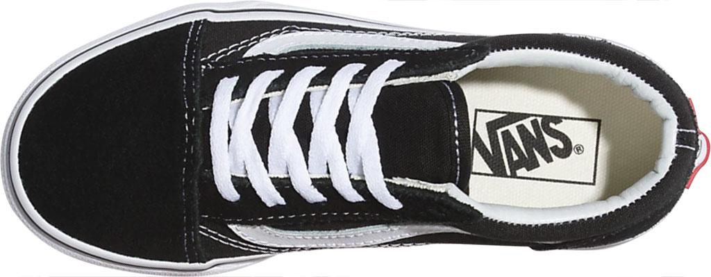 Children's Vans Classic Old Skool Canvas Sneaker, Black/True White, large, image 3