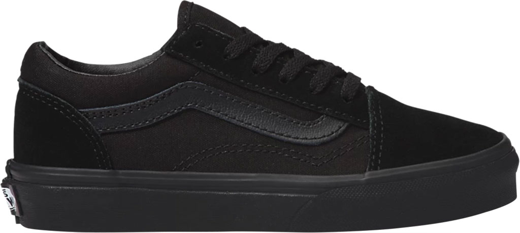 Children's Vans Classic Old Skool Canvas Sneaker, Black/Black, large, image 2