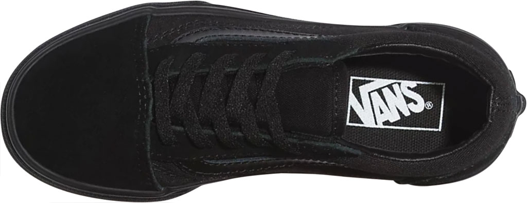Children's Vans Classic Old Skool Canvas Sneaker, Black/Black, large, image 3