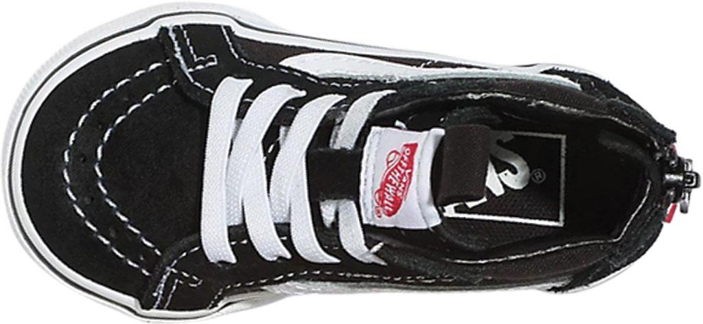 Infant Vans Sk8 Hi Zipper Back Canvas Sneaker - Toddler, Black/White, large, image 3