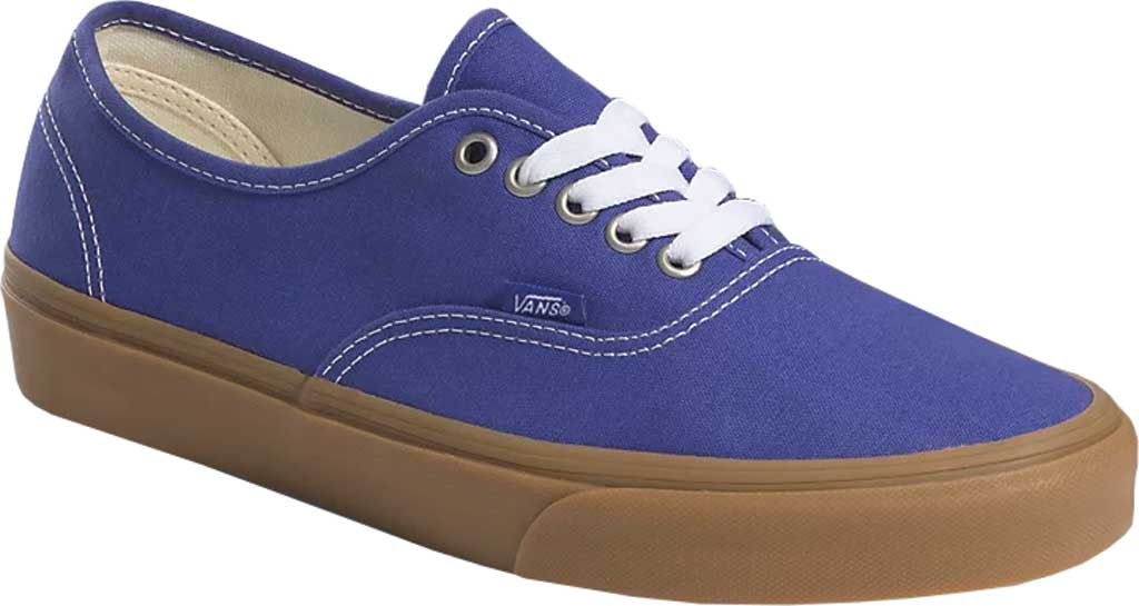 Vans Authentic Gum Sole Canvas Sneaker, (Gum) Spectrum Blue/True White, large, image 1