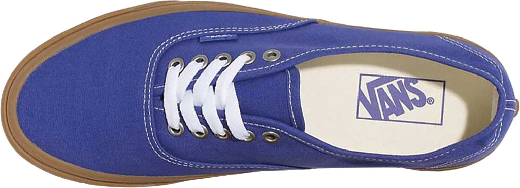 Vans Authentic Gum Sole Canvas Sneaker, (Gum) Spectrum Blue/True White, large, image 3