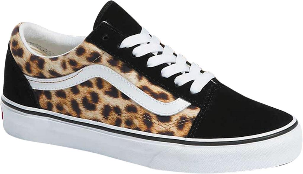 Vans Old Skool Leopard Canvas Sneaker, Black/True White, large, image 1