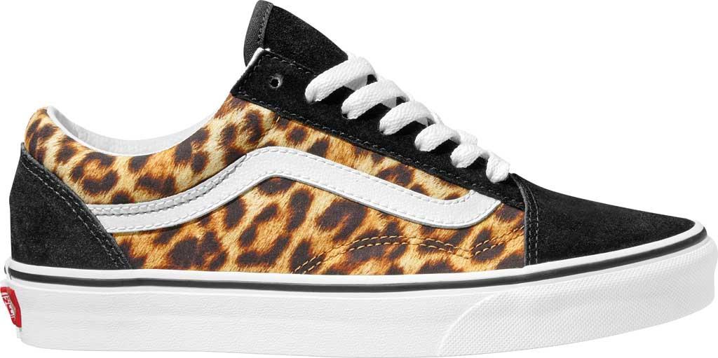 Vans Old Skool Leopard Canvas Sneaker, Black/True White, large, image 2