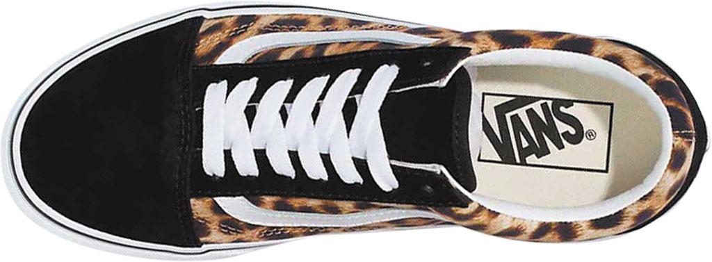 Vans Old Skool Leopard Canvas Sneaker, Black/True White, large, image 3