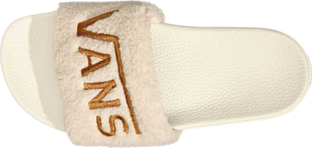 Women's Vans Slide-On Sherpa Sandal, Chipmunk/Marshmallow, large, image 4