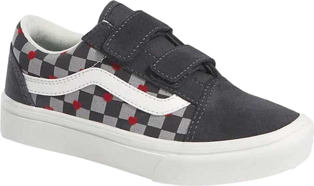Children's Vans ComfyCush Old Skool V Sneaker, (Autism Acceptance) Vans Heart/Asphalt, large, image 1