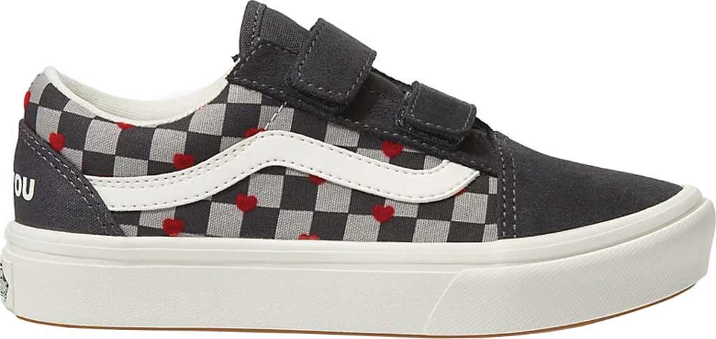 Children's Vans ComfyCush Old Skool V Sneaker, (Autism Acceptance) Vans Heart/Asphalt, large, image 2
