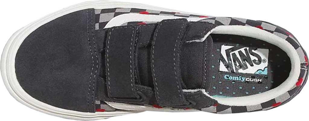 Children's Vans ComfyCush Old Skool V Sneaker, (Autism Acceptance) Vans Heart/Asphalt, large, image 3