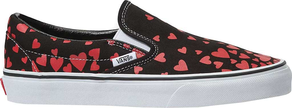 Vans Classic Slip-On Valentines Hearts, (Valentines Hearts) Black/Racing Red, large, image 2