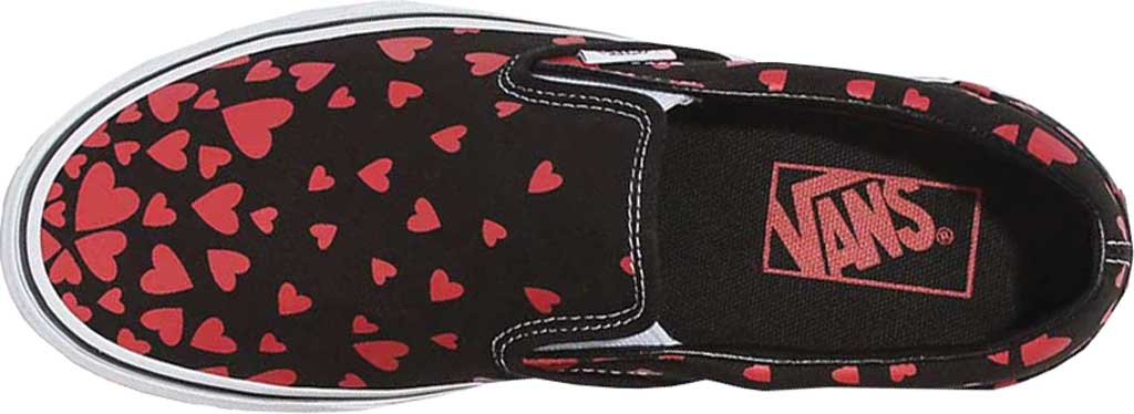 Vans Classic Slip-On Valentines Hearts, (Valentines Hearts) Black/Racing Red, large, image 3