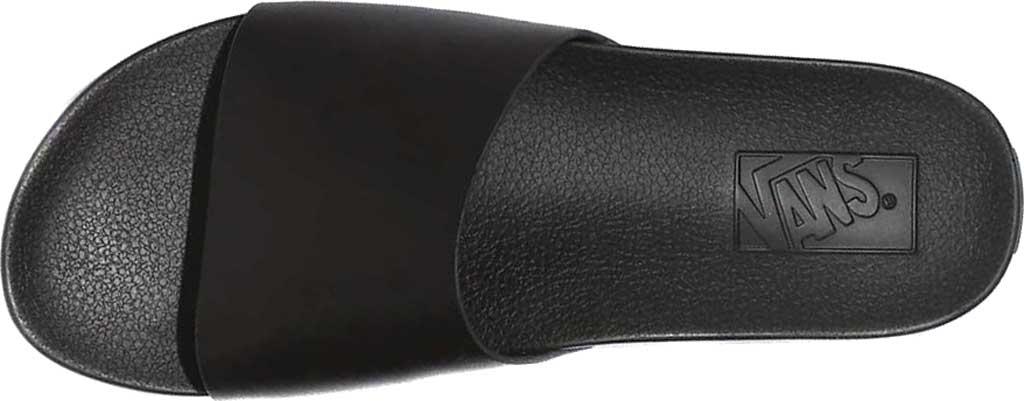 Women's Vans Decon Slide, (Leather) Black, large, image 3