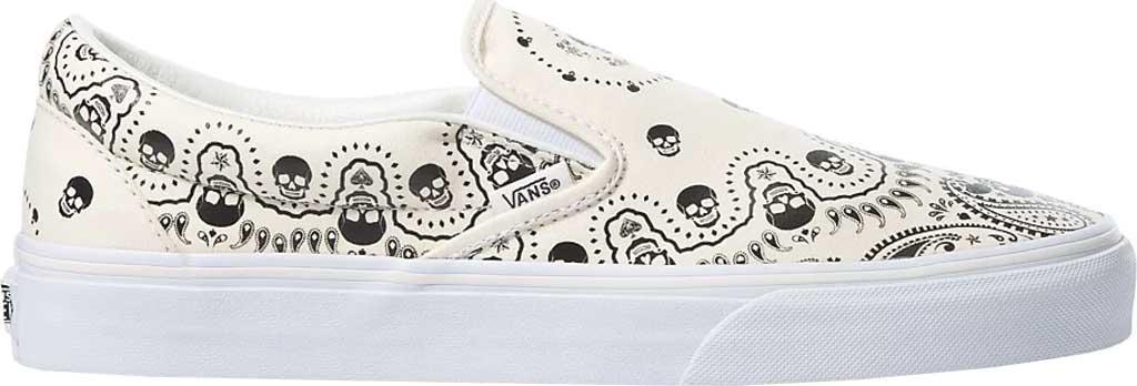 Vans UA Classic Slip-On Bandana, (Bandana) Classic White/Black, large, image 2