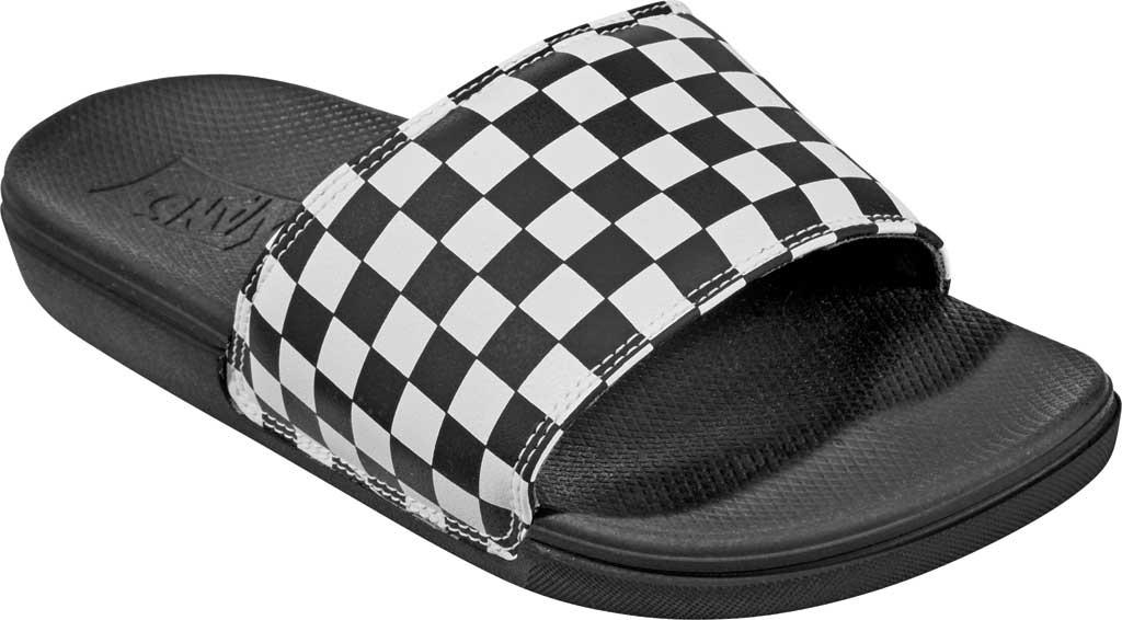 Children's Vans Junior La Costa Slide-On, (Checkerboard) White, large, image 1