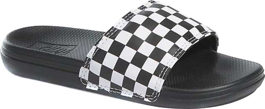 Children's Vans UY La Costa Slide-On, (Checkerboard) White, large, image 1