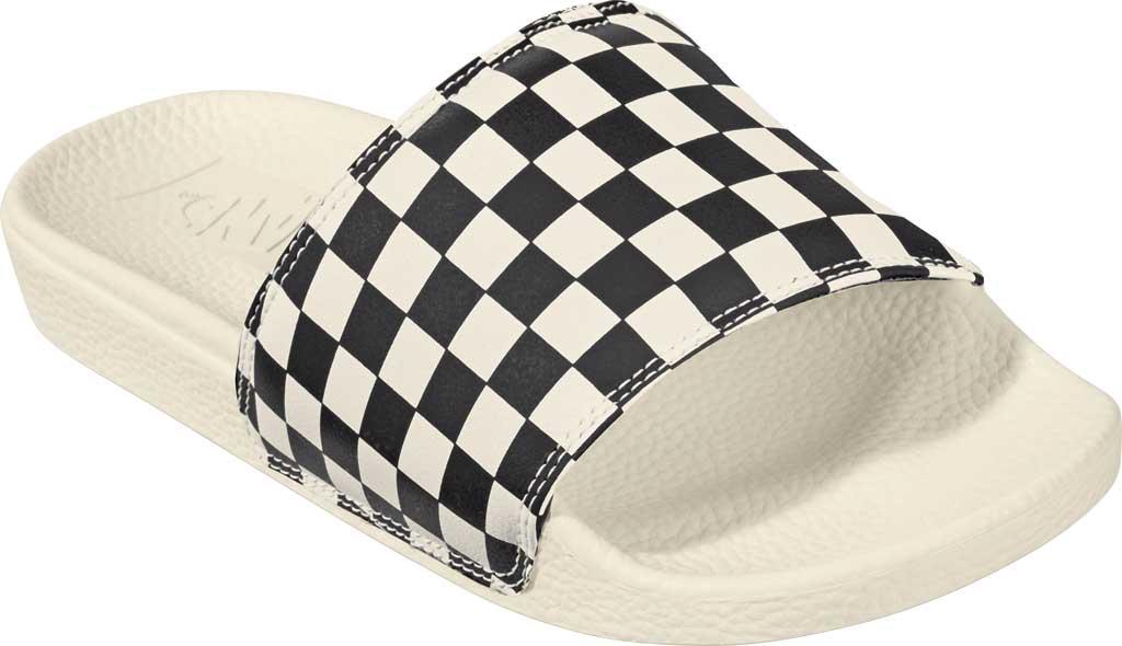 Women's Vans La Costa Slide-On, (Checkerboard) Black/Marshmallow, large, image 1
