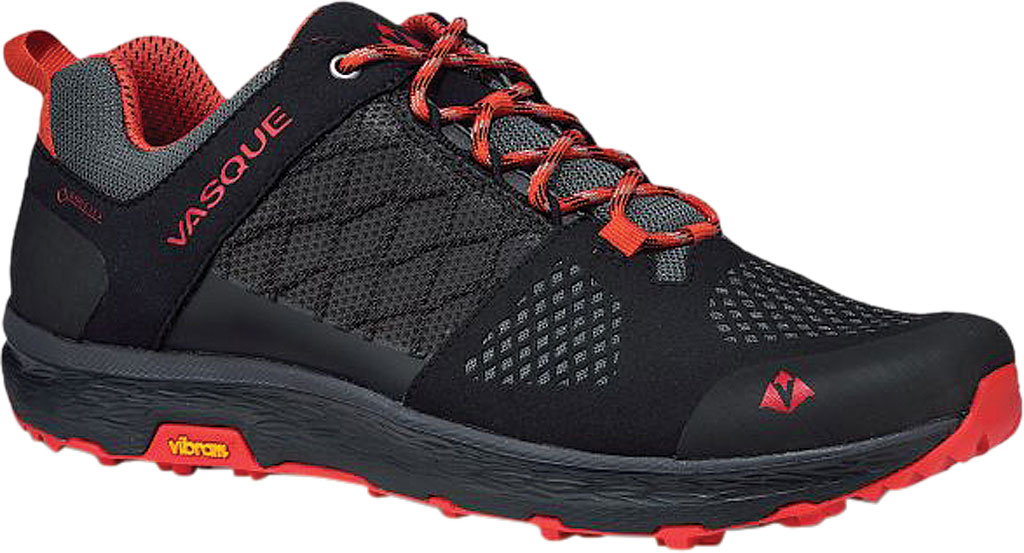 Men's Vasque Breeze LT Low GORE-TEX Sneaker, Anthracite/Red Microfiber/Mesh, large, image 1