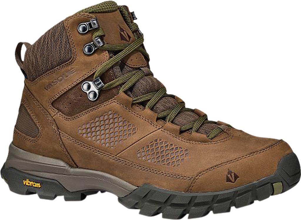 Men's Vasque Talus AT UltraDry Hiking Boot, Dark Earth/Avocado Waterproof Nubuck/Mesh, large, image 1