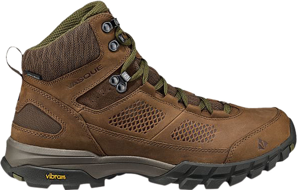 Men's Vasque Talus AT UltraDry Hiking Boot, Dark Earth/Avocado Waterproof Nubuck/Mesh, large, image 2