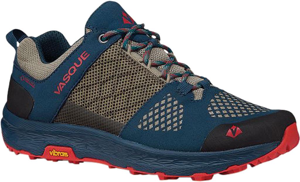 Women's Vasque Breeze LT Low GORE-TEX Sneaker, Blue/Red Microfiber/Mesh, large, image 1