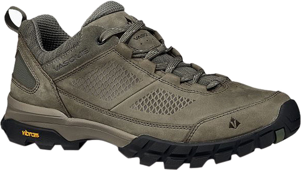 Men's Vasque Talus AT Low Hiking Shoe, Dusty Olive/Chive Waterproof Nubuck/Mesh, large, image 1