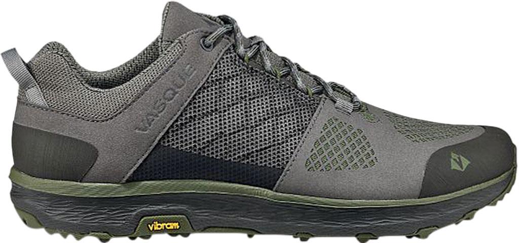 Men's Vasque Breeze LT Low Sneaker, Gargoyle/Chive Microfiber/Mesh, large, image 2