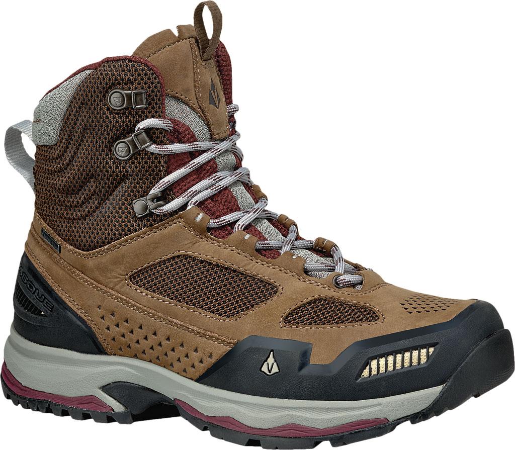 Women's Vasque Breeze AT GTX Waterproof Hiking Boot, Dark Earth/Rum Raisin, large, image 1