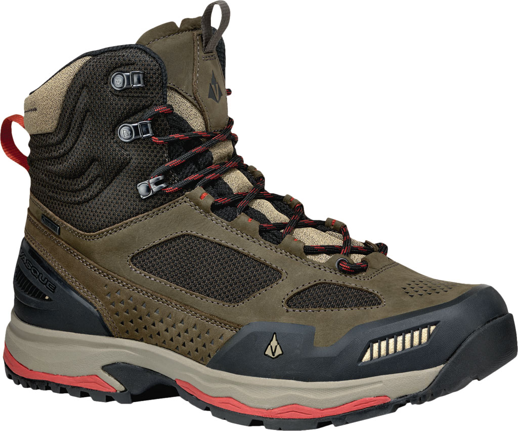 Men's Vasque Breeze AT GTX Waterproof Hiking Boot, Brown Olive/Bossa Nova, large, image 1